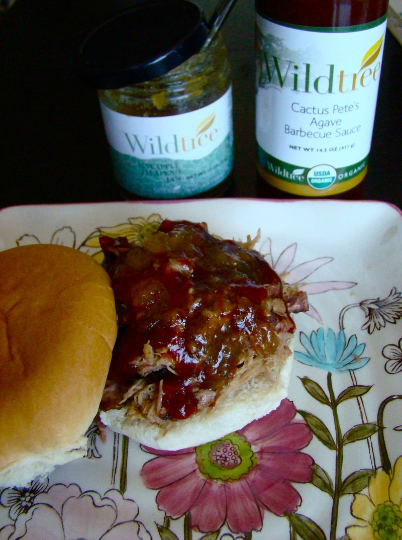 pulled pork on bun with bbq sauce - http://whatmattersmostnow.typepad.com/