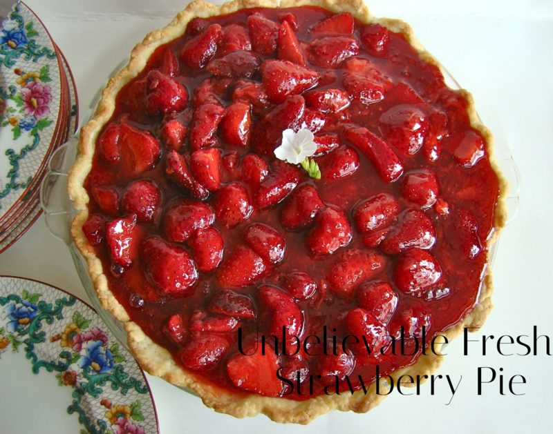 Fresh Strawberry Pie - WhatMattersMostNow.typepad.com