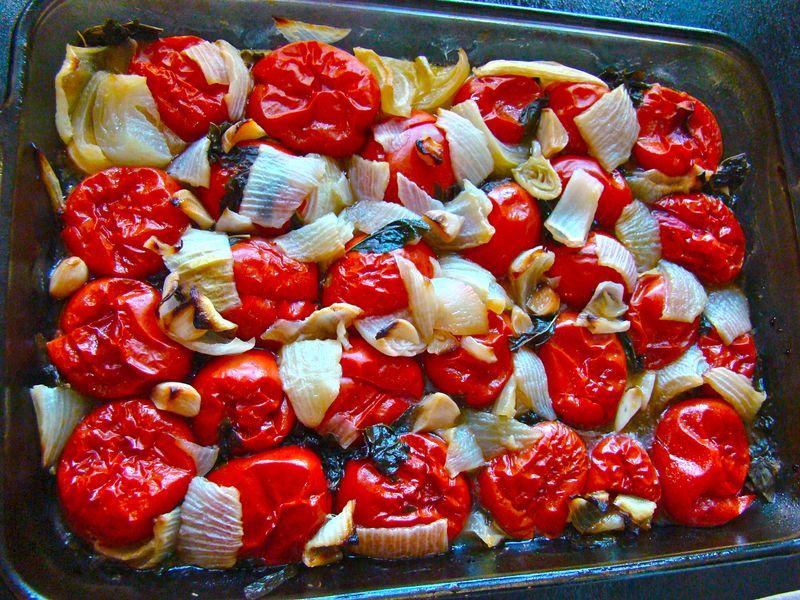 roasted marinara sauce www.whatmattersmostnow.typepad.com