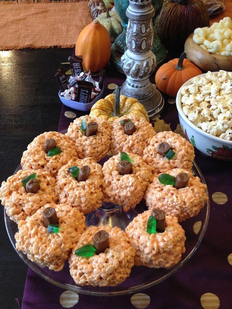 rice krispie pumpkins whatmattersmostnow.typepad.com