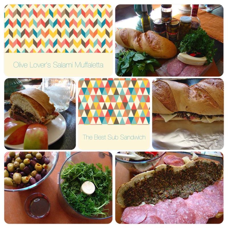 Muffuletta Sandwich www.whatmattersmostnow.typepad.com