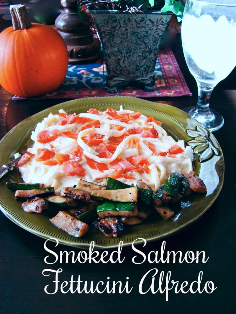 smoked salmon fettucini alfredo www.whatmattersmostnow.typepad.com