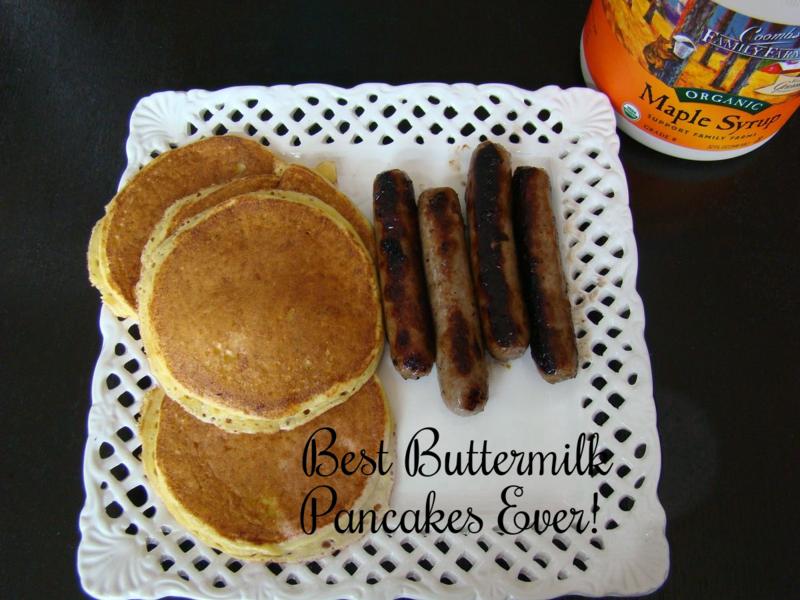 buttermilk pancakes www.whatmattersmostnow.typepad.com