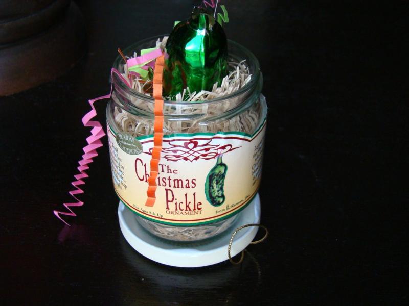 The Christmas Pickle Tradition www.whatmattersmostnow.typepad.com
