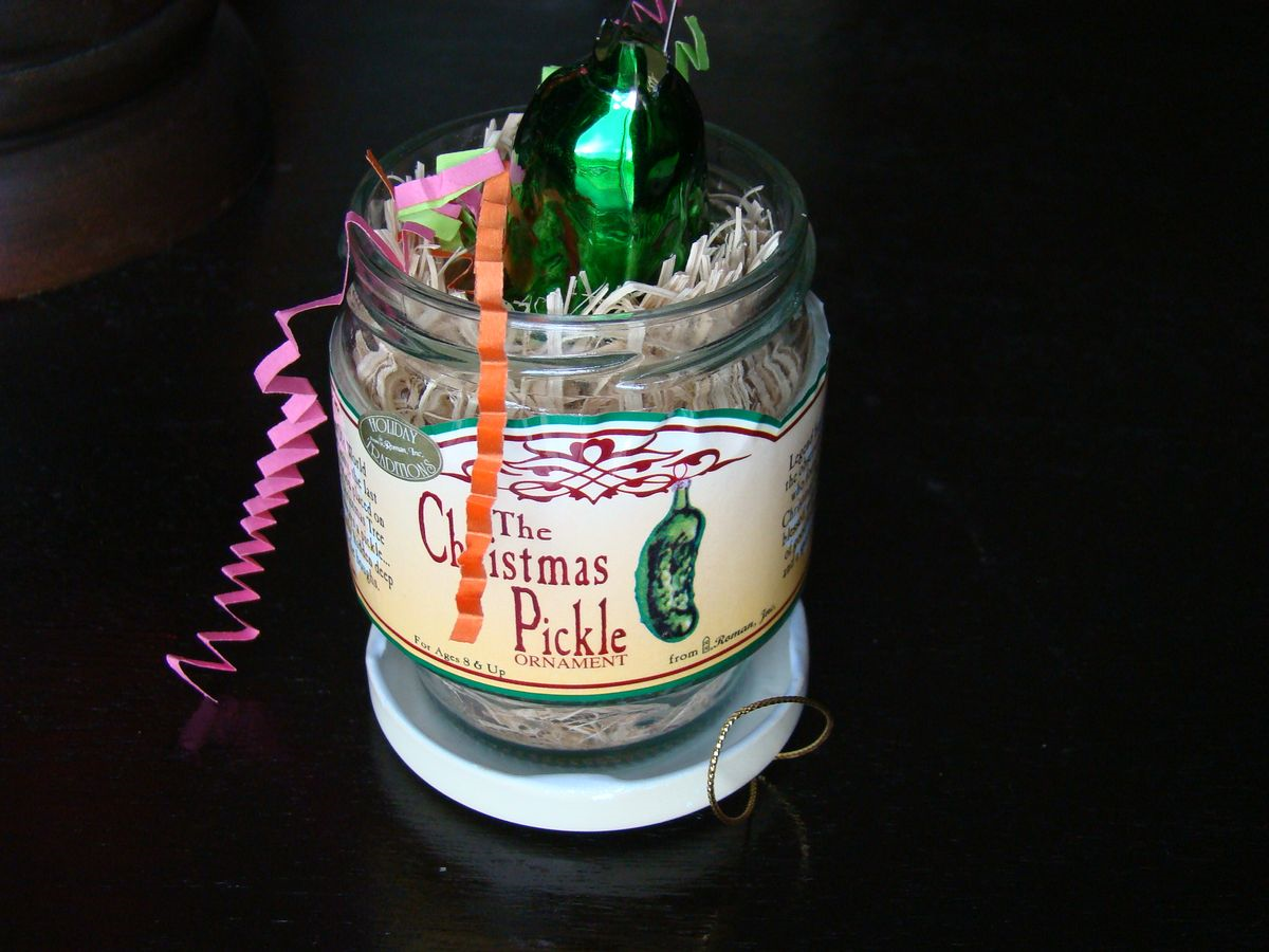 The Christmas Pickle Tradition Whatmattersmostnowtypepad