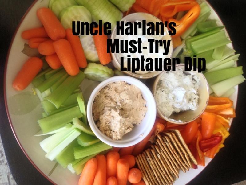 Liptauer Spread and Veggie Tray www.whatmattersmostnow.typepad.com