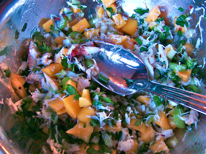 crab mango salad www.whatmattersmostnow.typepad.com