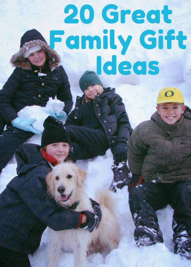 20 Great Family Gift Ideas/Experiences #WhatMattersMostNow blog