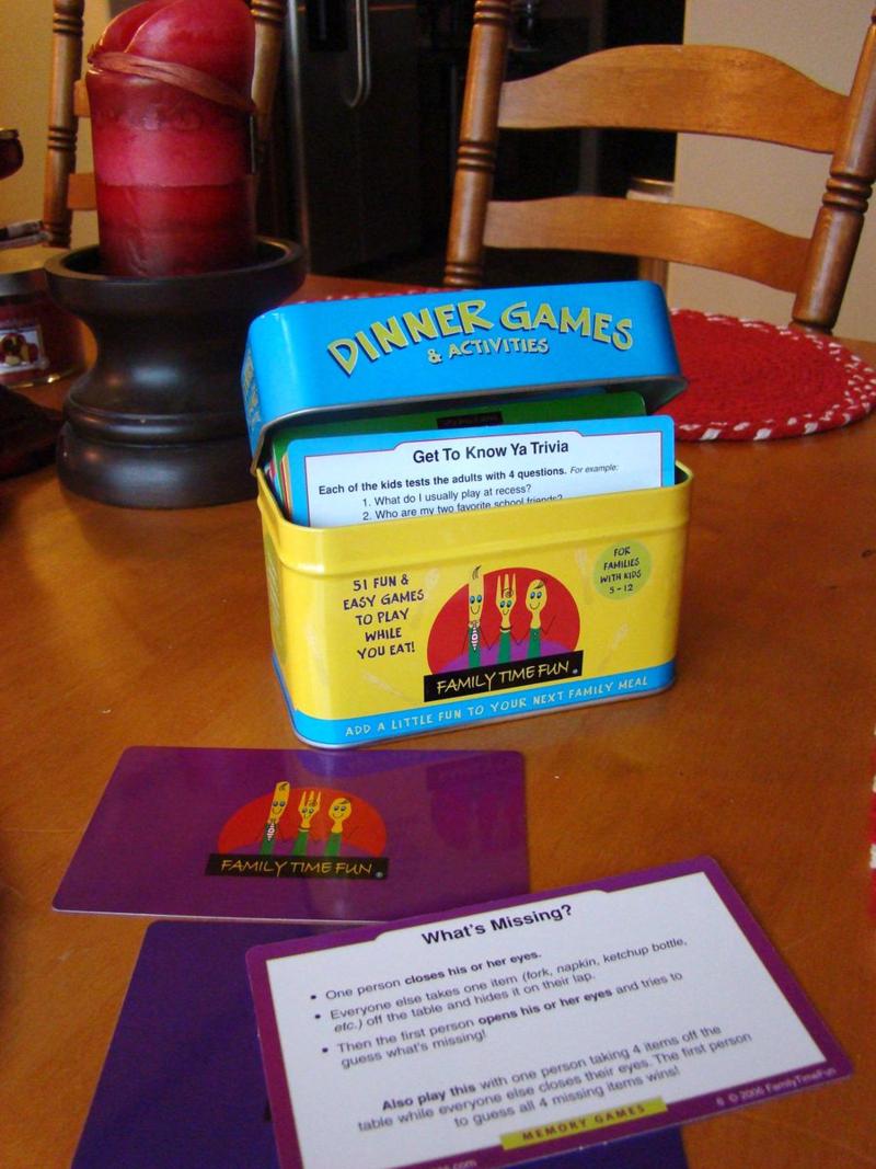 Dinner games www.whatmattersmostnow.typepad.com